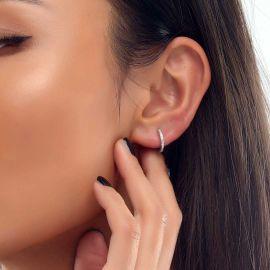 Women's Iced Hoop Earrings