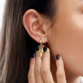 Women's Angel Wings Earrings in Gold