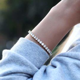 Women's 5mm Single Row Tennis Bracelet in Gold