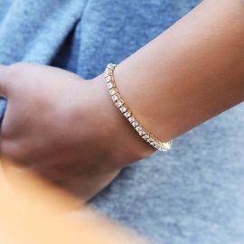 Women's 3mm Single Row Tennis Bracelet in Gold