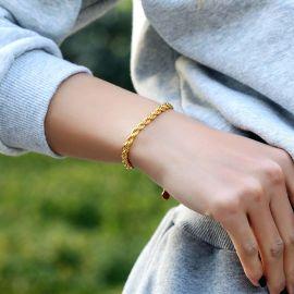 Women's 5mm Rope Bracelet in Gold