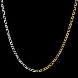 Women's 5mm Two-Tone Figaro Chain