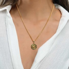 Women's Compass Pendant in Gold