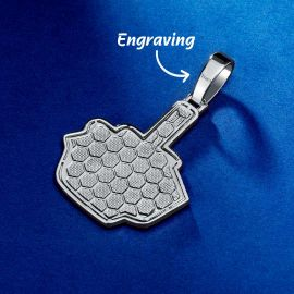 """Iced """"F**k You"""" Pendant in White Gold"""