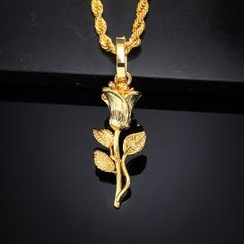 Golden Rose Pendant