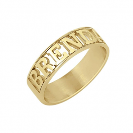 Personalized Cut Out Statement Name Ring