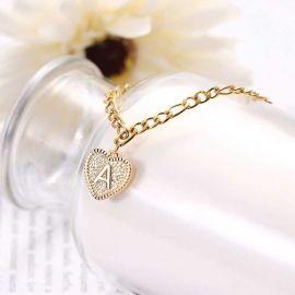 Personalized Heart Initial Letter Bracelet