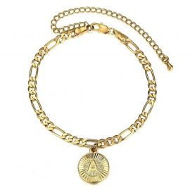 Personalized Round Initial Letter Bracelet