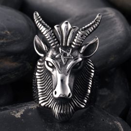 Esoteric Goat Stainless Steel Ring