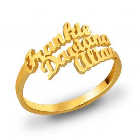 Personalized Three Names Ring