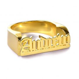 Personalized Gothic Name Ring