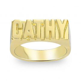 Personalized Capital Letters Name Ring
