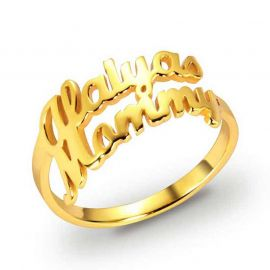 Personalized Name Ring with Two Names