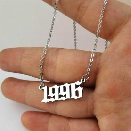 Personalized Birth Year Number Necklace