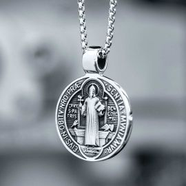 St. Benedict Medal Stainless Steel Pendant