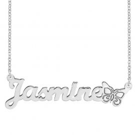 Personalized Butterfly Name Necklace