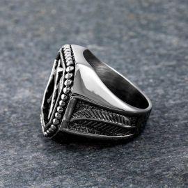 Viking Axe Stainless Steel Ring
