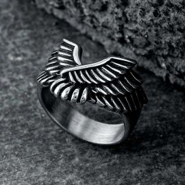 Angel Wing Stainless Steel Beast Ring