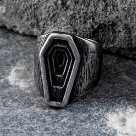 Antique Layers Coffin Stainless Steel Ring