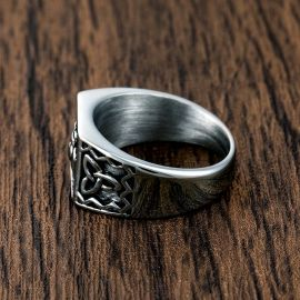 Irish Claddagh Stainless Steel Celtic Knots Ring