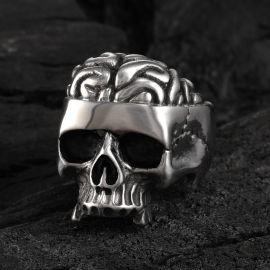 Vintage Rugged Stainless Steel Skull Ring