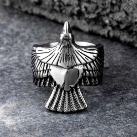 Soaring Eagle Stainless Steel Ring