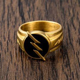 Gold Lightning Stainless Steel Ring