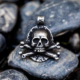Skull and Crossbones Stainless Steel Pendant