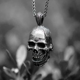 Calvarium Stainless Steel Skull Pendant
