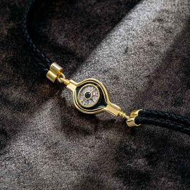 Eye of Horus Black Braided Leather Bracelet
