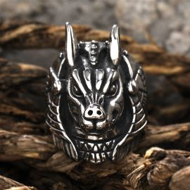 Anubis Egyptian Death God Stainless Steel Ring