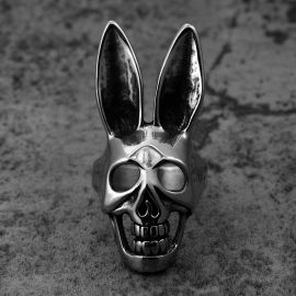 New Fashion Rabbit Skull Stainless Steel Ring