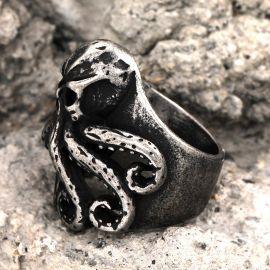 Octopus Skull Stainless Steel Animal Ring