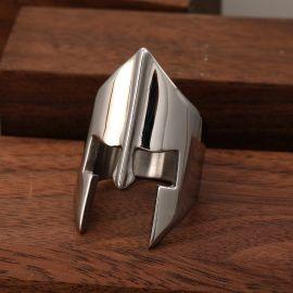 Spartan Warrior Helmet Stainless Steel Ring