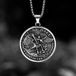 ST. Michael Protect US Stainless Steel Pendant
