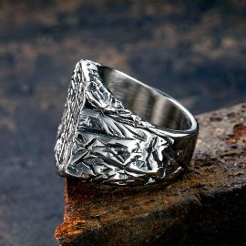 Saves Death Stainless Steel Cross Ring