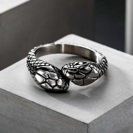 Greek Amphisbaena Stainless Steel Mythology Ring