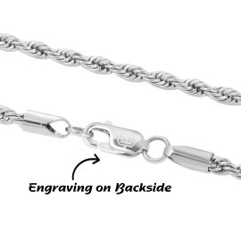 3mm Rope Solid 925 Sterling Silver Chain
