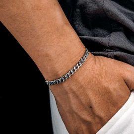 5mm Cuban Link Solid 925 Sterling Silver Bracelet