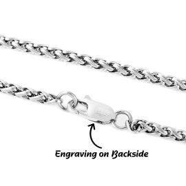 3mm Franco Solid 925 Sterling Silver Bracelet
