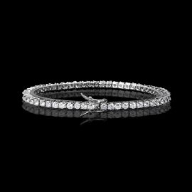 3mm Tennis 18K White Gold Bracelet