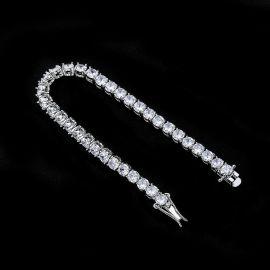 5mm Tennis 18K White Gold Bracelet