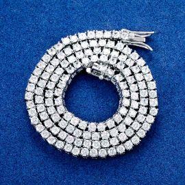 3mm Tennis 18K White Gold Chain
