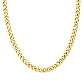 5mm Cuban Link Solid 925 Sterling Silver Chain in Gold
