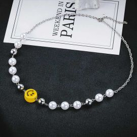 Pearl with Smile face Chain