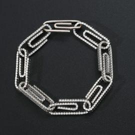Iced Paper Clip Bracelet