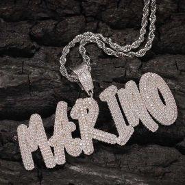Custom Cursive Name Necklace in White Gold