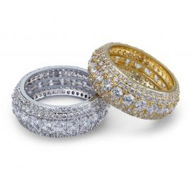 Micro Pave Round Cut Band