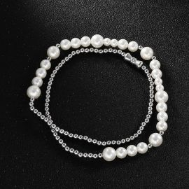 Titanium Steel Pearl Necklace