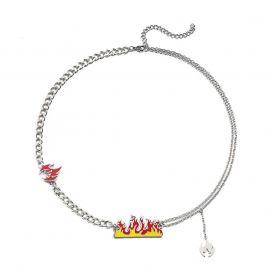 Flame Titanium Steel Necklace